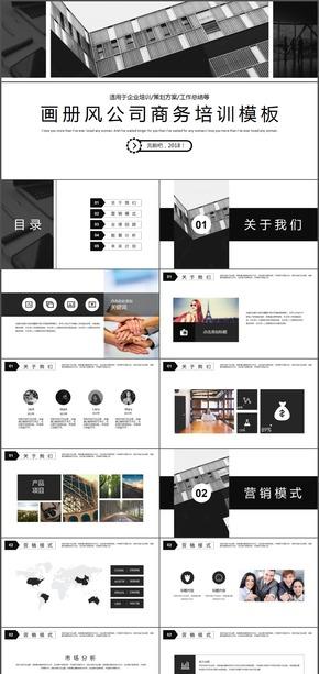 画册风公司介绍企业培训PPT模板