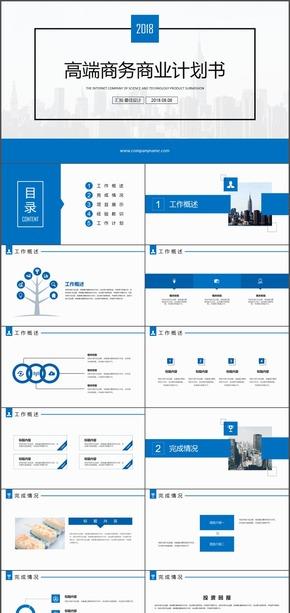 大气档次公司企业项目介绍创业计划PPT