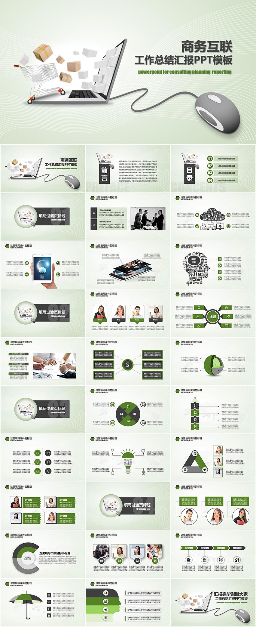 电子商务精品网络购物类总结汇报PPT模板