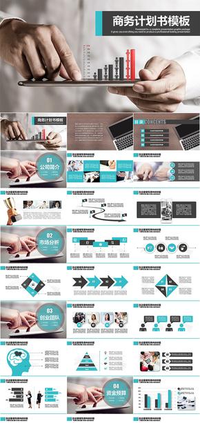 商务通用计划策划书PPT模板
