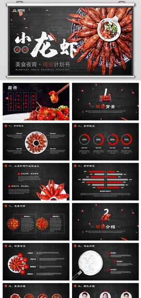 小龍蝦美食夜宵餐飲燒烤商業計劃書