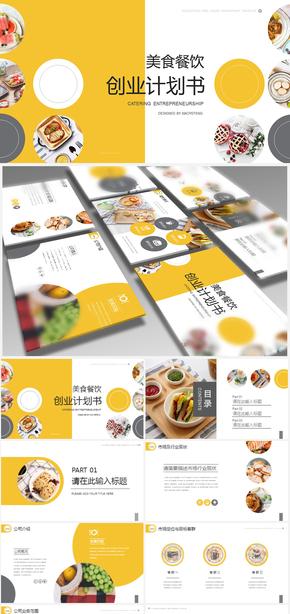 【免费分享】美食餐饮创业商业计划书菜单菜谱介绍PPT模板