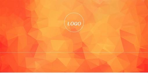 橙色商务通用ppt模板