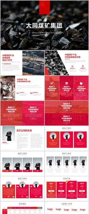 大同煤矿集团矿产商业计划书keynote模版