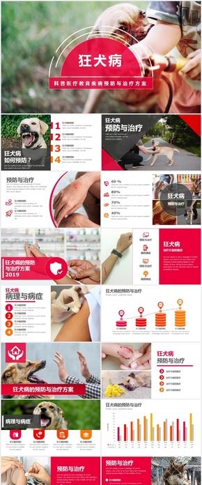 狂犬病的预防与治疗keynote模板 疫苗公益健康宣传教育