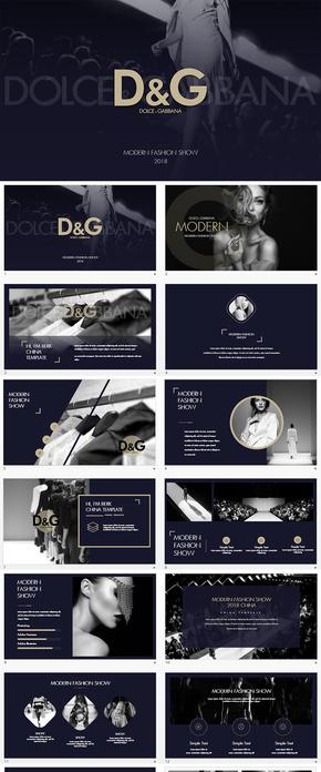 顶级奢侈品D&G服装发布会keynote模板