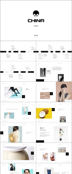 清新唯美时尚艺术keynote模板