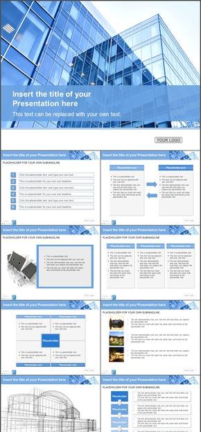 欧美简约风精品商务PPT图表素材合集 14
