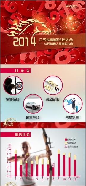 2014红色主题模板