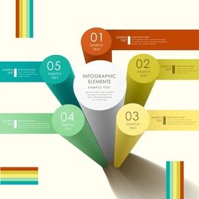 【演界信息图表】多彩立体-圆柱信息图表