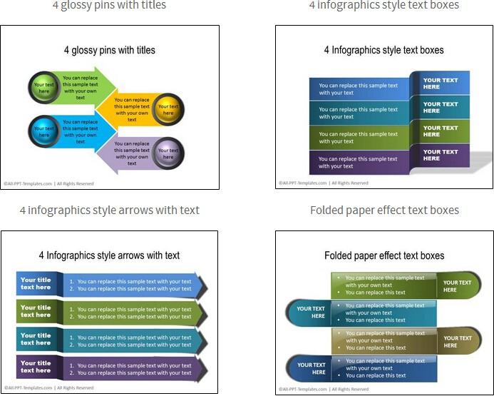 【演界信息图表】经典商务-一网打尽所有文本框