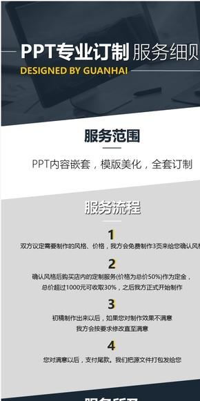 观海PPT专业定制(内容嵌套/模版美化/全套订制)