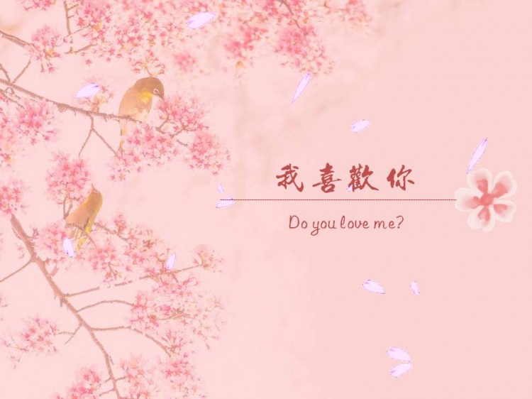 浪漫樱花季爱要说出来告白ppt模板