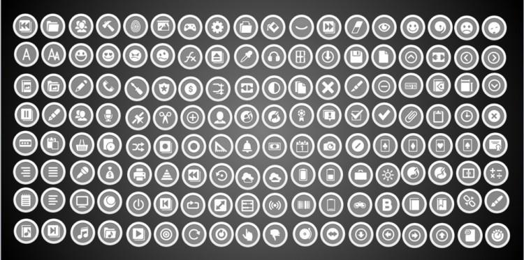 100个灰色矢量小图标简单大气万能色ppt已转好直接用