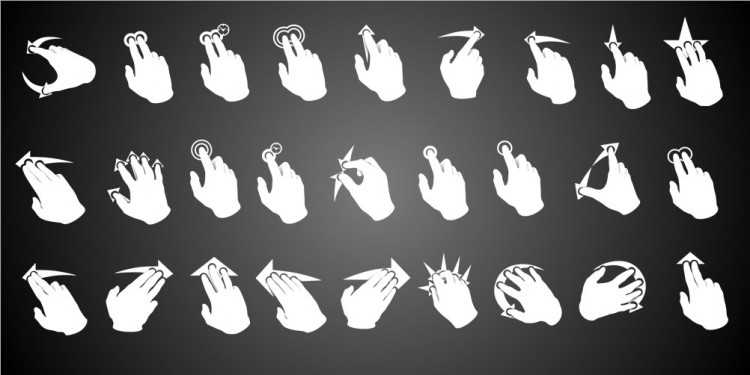 ppt手指1234矢量图