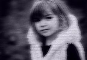 【PS作品】小女孩电视屏幕效果