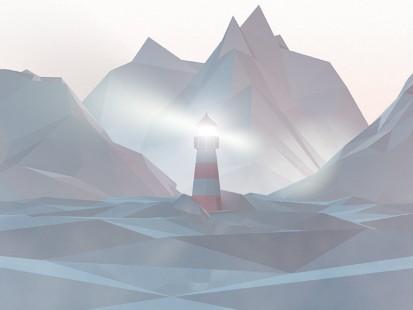 顶级设计图扁平风山脉信号塔