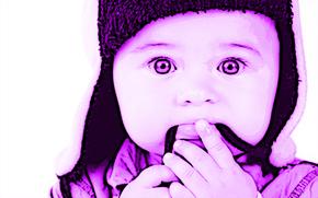 【PS作品】紫色小孩