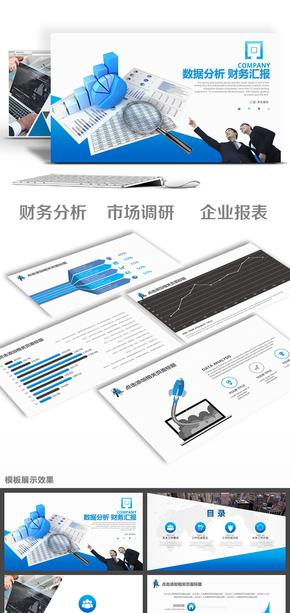 企事业财务分析数据统计市场调研总结计划项目汇报PPT