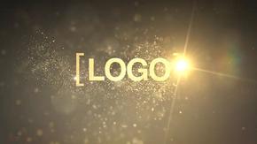 微光尘埃粒子logo标志动画AE模板
