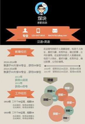 个人简历可编辑信息图表018(购买请咨询,否则后果自负)