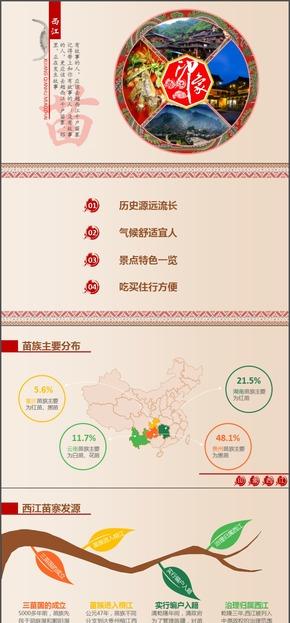 最美西江-旅游景点介绍模板
