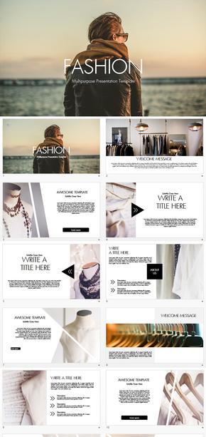 高端时尚欧美风服装营销策划keynote模板