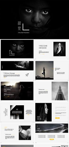 视觉广告、设计、摄影摄像PPT模板