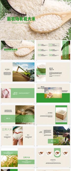 绿色农业产品有机大米keynote模板