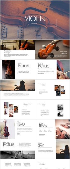 高端小提琴独奏艺术演出音乐培训keynote模版