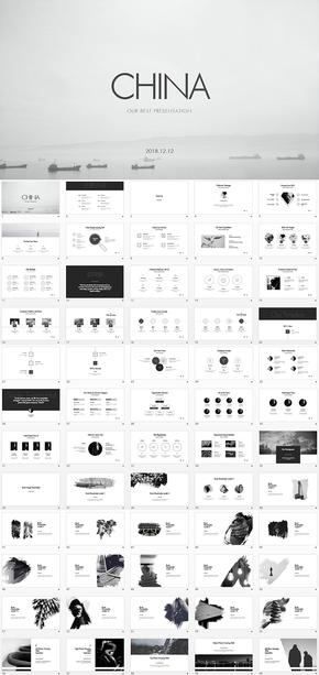 460页线性简约keynote模板合集