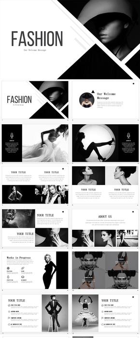 时装服饰艺术时尚广告设计类PPT模板