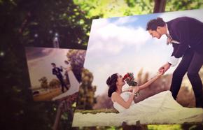 婚礼婚纱照电子相册/画架上的幸福