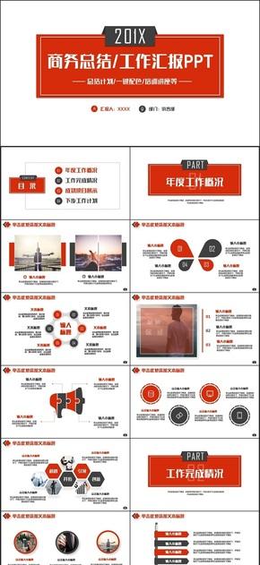 【述职汇报】红色极简风年终总结商业计划书职场培训述职PPT