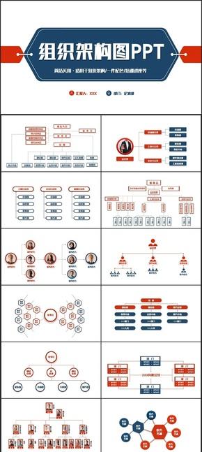 【企业介绍】动感时尚公司企业组织架构图结构图PPT