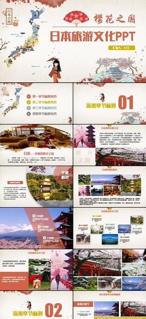 复古创意日本文化风景介绍日本旅游日本之行东京旅游PPT
