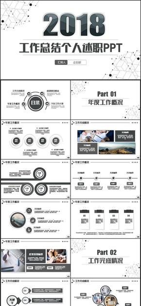 【2018计划总结】黑白简约风计划总结工作计划商业计划书PPT