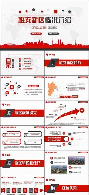 【内容完整】河北雄安新区介绍PPT概况规划地图模板