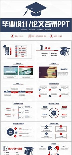 【毕业答辩专用】实用完整毕业答辩论文答辩毕业论文毕业设计开题报告PPT