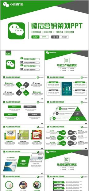 【微信活动策】时尚微信营销微商微信公众号自媒体PPT