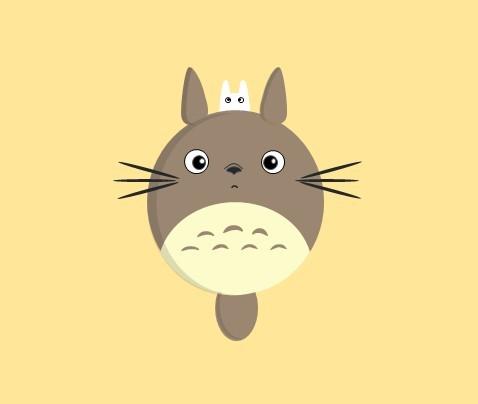 q版龙猫手绘图