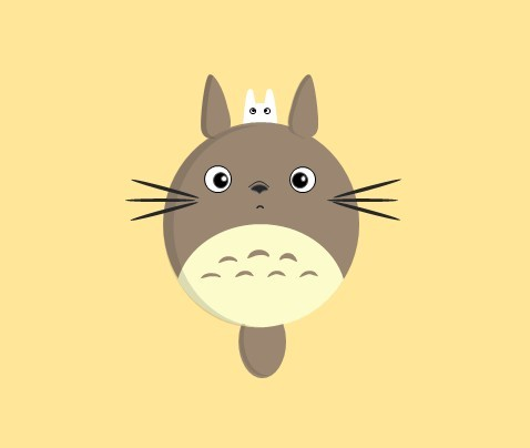 q版龙猫手绘图 - 演界网