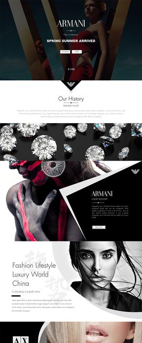 阿玛尼时尚奢侈品keynote模板
