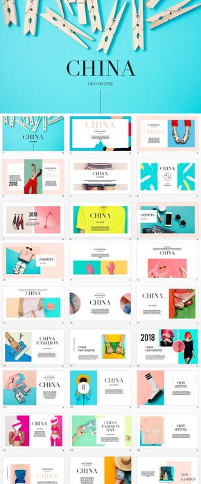 创意服装艺术奢侈品keynote模板