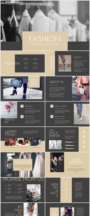 简约高端大气时尚服装活动营销策划keynote模板