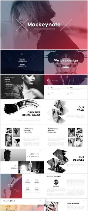 唯美清新品牌公司宣传时尚PPT模板