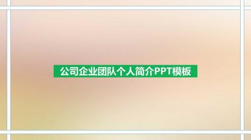 公司企业团队个人简介ppt模板