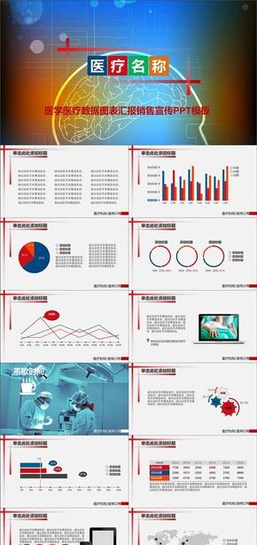 医学医疗数据图表汇报销售宣传PPT模板