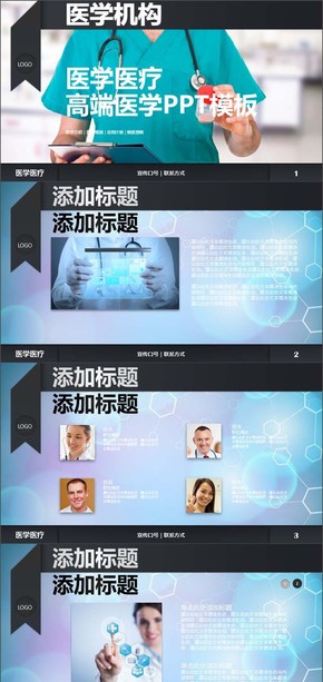 医学总结汇报医疗宣传销售PPT模板