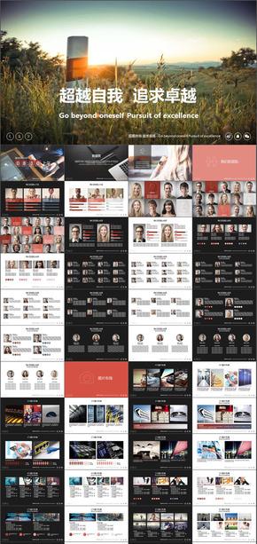 519页企业宣传产品介绍工作总结汇报销售PPT模版